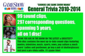 General Trivia Game Show Audio CD Questions & Answers (2010