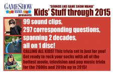 Kids Stuff Game Show Audio CD up to 2015 Questions & Answers - Digital Download (PDF & MP3)