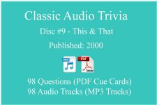 Classic Game Show Mania Audio Trivia - Disc 09 - This & That - Released 2000