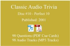 Classic Game Show Mania Audio Trivia - Disc 10 - Perfect 10 - Released 2001