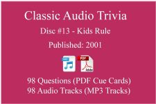 Classic Game Show Mania Audio Trivia - Disc 13 - Kids Rule - Released 2001