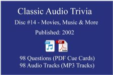 Classic Game Show Mania Audio Trivia - Disc 14 - Movies, Music & More - Released 2002