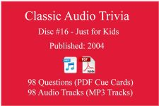 Classic Game Show Mania Audio Trivia - Disc 16 - Just for Kids - Released 2004