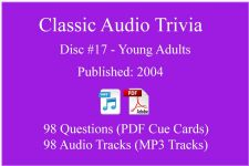 Classic Game Show Mania Audio Trivia - Disc 17 - Young Adults - Released 2004