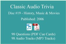 Classic Game Show Mania Audio Trivia - Disc 19 - History, Music & Movies - Released 2006