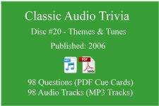 Classic Game Show Mania Audio Trivia - Disc 20 - Themes & Tunes - Released 2006