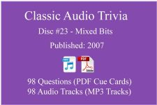 Classic Game Show Mania Audio Trivia - Disc 23 - Mixed Bits - Released 2007