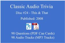 Classic Game Show Mania Audio Trivia - Disc 24 - This & That - Released 2008