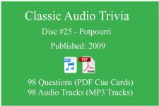 Classic Game Show Mania Audio Trivia - Disc 25 - Potpourri - Released 2009