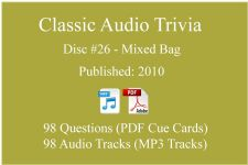Classic Game Show Mania Audio Trivia - Disc 26 - Mixed Bag - Released 2010