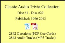 Classic Game Show Mania Audio Trivia Collection - 29 Sets, 2842 Questions & Answers