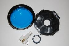 Large Blue Replacement Hit Button w/ LED Wedge Bulb For Game Show Systems
