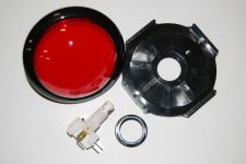 Large Red Replacement Hit Button w/ LED Wedge Bulb For Game Show Systems