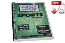 The Complete Sports Game Show Trivia Book Digital Download (PDF)