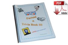 Factoid Game Show Trivia Book #3 Digital Download (PDF)