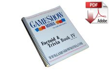 Factoid Game Show Trivia Book #4 Digital Download (PDF)